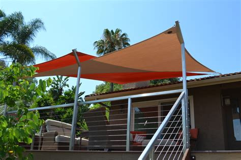 sail awnings for decks shade sails