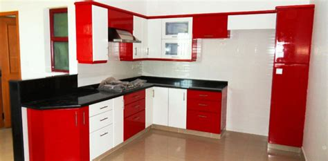 Kitchen Modular Ideas White by Fantastic Small With Kitchen Cabinets Red And White Color