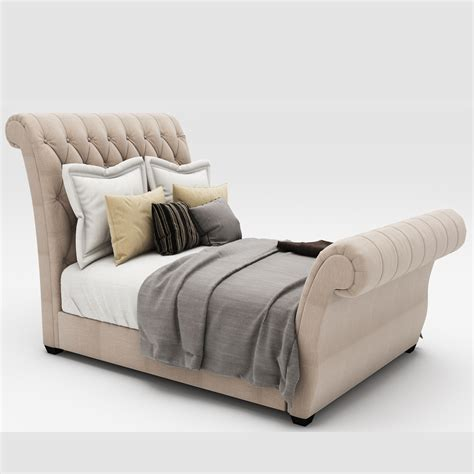 upholstered tufted sleigh bed waverly taupe king upholstered sleigh bed with button