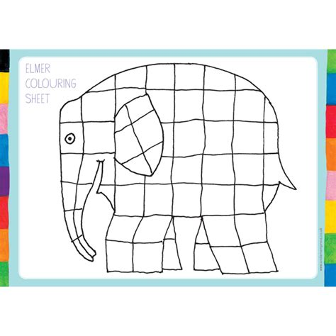 Elmer The Patchwork Elephant Activities - activities