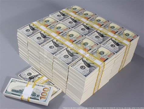 A Million Dollar by New Style 100s Blank Filler 1 000 000 Prop Money Package