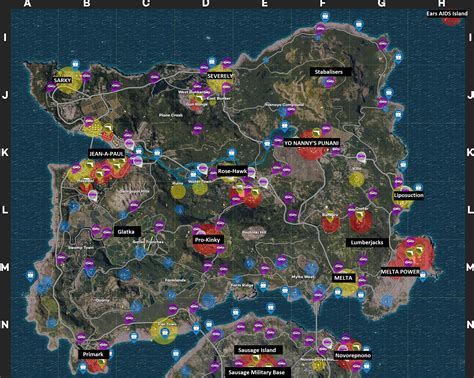pubg map new map labels for newbs pubattlegrounds