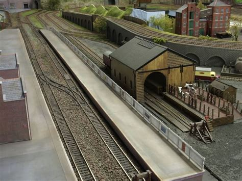 layout rails cattle dock goods shed model railroad layouts