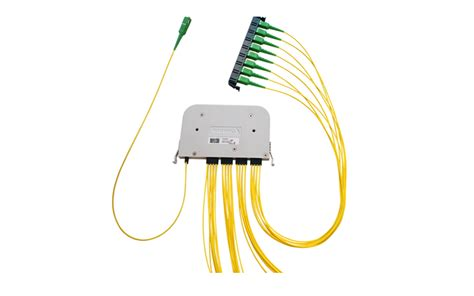 Fiber Optic Passive Splitter 1x2 With Modulebox hexatronic cables interconnect systems products fiber optic interconnect products