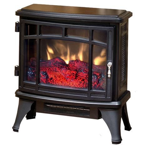duraflame electric fireplace heater duraflame 8511 black infrared electric fireplace stove