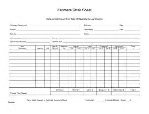 Take Sheet Template by Data Carried Forward From Takeoff Quantity Survey Sheet