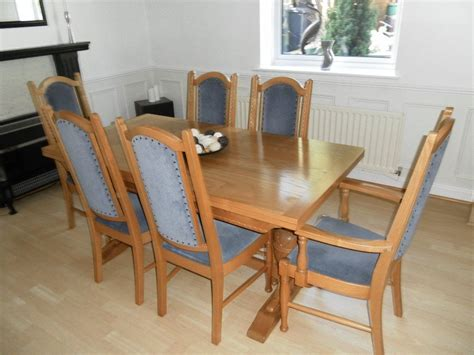 Solid Oak Dining Table With 6 Chairs Knoll Dining Room Table 6 Chairs Sideboard Solid