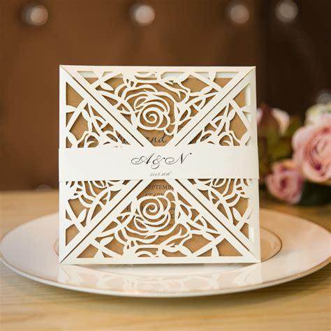 Personalized Creative Laser Cut Wedding Invitation Cards Free Custom E 1 unique rustic laser cut wedding invitations ewts019 as low