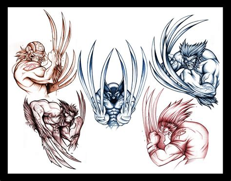 wolverine tattoo designs wolverine sketch concepts i up