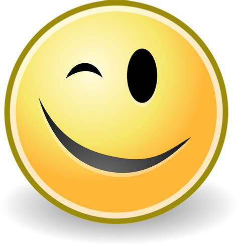 image gallery wink smile free vector graphic wink smiley happy smile yellow