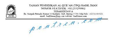 kop surat taman pendidikan al quran tpa