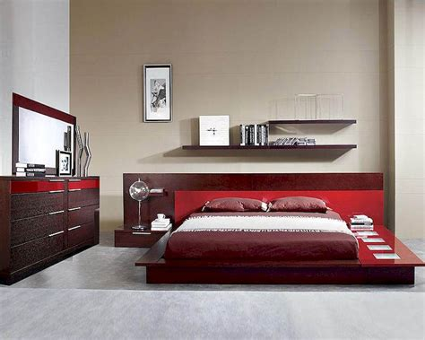 made in italy bedroom furniture modern wenge red finish bedroom set made in italy 44b6511