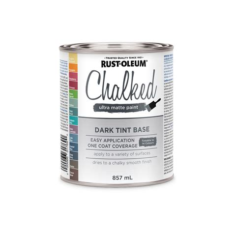 rustoleum chalk paint tint base the home depot canada