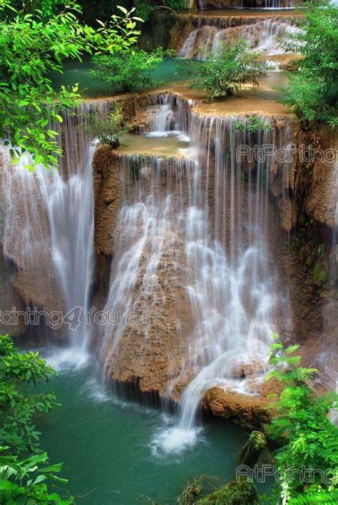 waterfall wall murals wall murals waterfalls canvas prints posters waterfall in forest 1721en