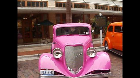 1934 ford 3 window coupe pink panther cars by brasspineapple productions