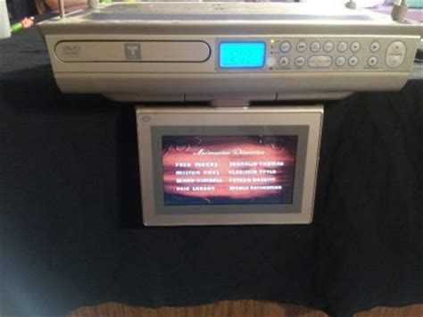 under cabinet radio tv kitchen trutech under cabinet kitchen tv dvd radio with 7 inch lcd