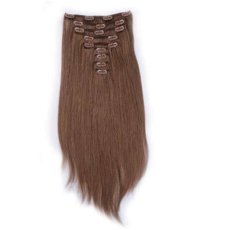 clip in hair extensions quality human hair wefts buy clip in human hair extensions brown blonde mix lj028