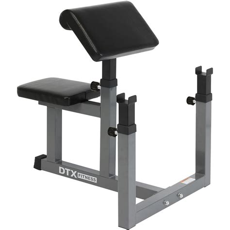 workout bench with preacher curl dtx fitness preacher arm curl barbell weight bench bicep
