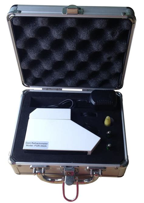 stainless steel table gem refractometer with package of