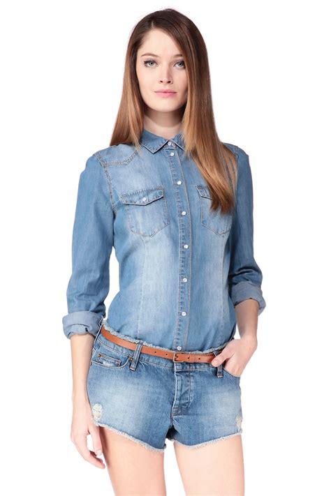 Vero Blouse By vero moda shirt blouse in blue lyst