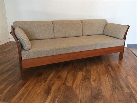 teak futon sold danish teak sofa bed modern to vintage