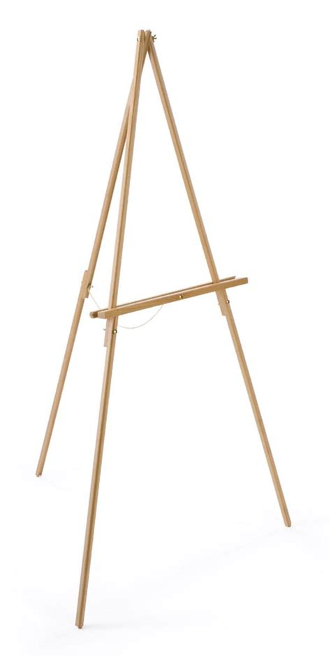Tripod Poster tripod poster holder wood easel with wood finish