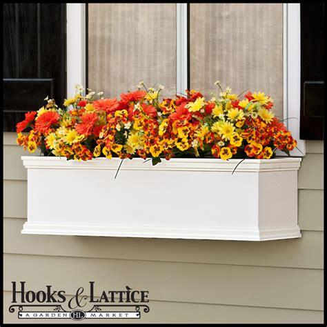 Composite Window Boxes - xl pvc window boxes composite window planters hooks and lattice