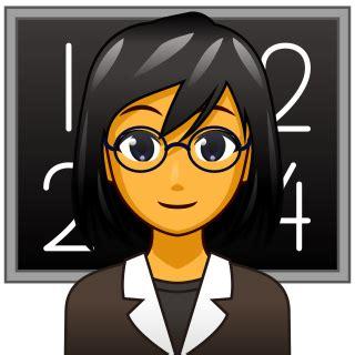 female teacher   emojidex custom emoji service and apps