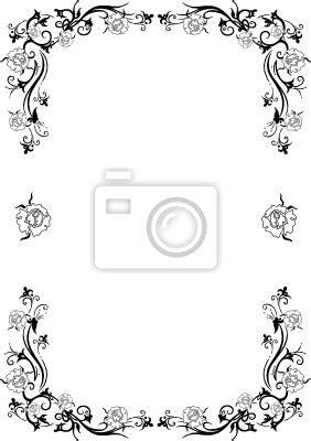 Dm Sticker Drucken Rund by Rahmen Blumen Floral Filigran Schn 246 Rkel