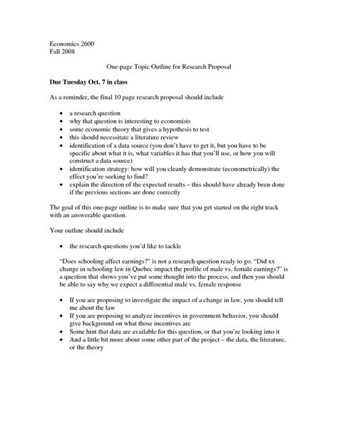 best university thesis proposal