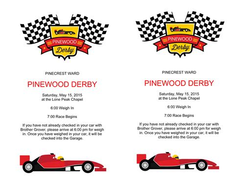 microsoft word pinewood derby flyer docx scouts