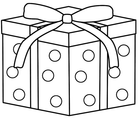 coloring page of a present gift coloring page coloring home