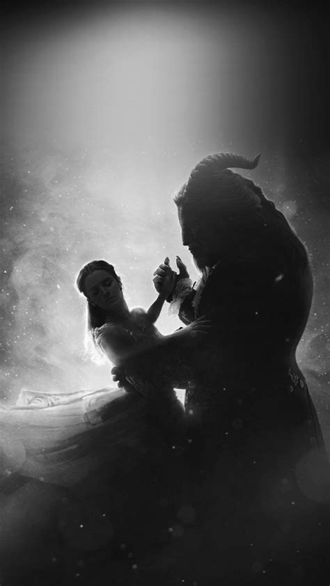 ay50-disney-beauty-beast-illustration-art-bw-dark-wallpaper
