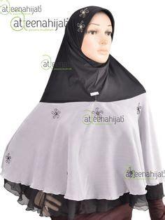 Kerudung Langsung Pakai Jilbab Khimar Syar I Pet Chiffon Jilbab Khimar Syar