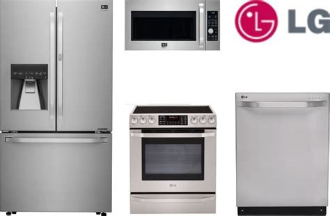 LG LGS4SSFD2 LG 4 Piece Kitchen Appliances Package with