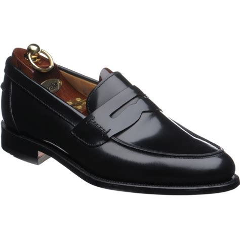 loake loafers loake shoes loake 1 256 loafer in black polished at