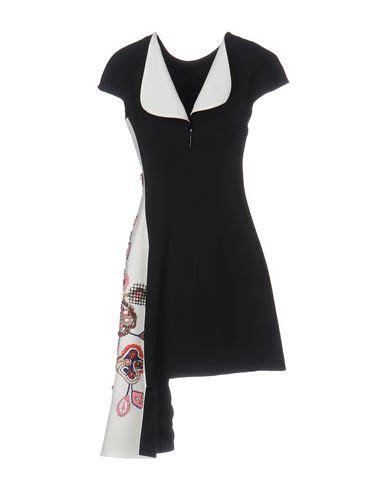 Msgm Knee Length Dress msgm knee length dress black modesens