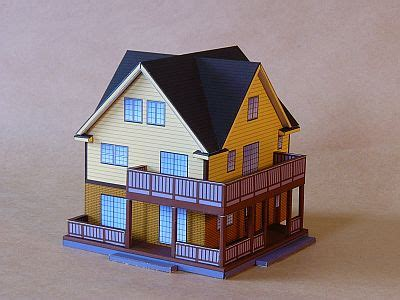 house paper rigged 3d model free shipping 3d paper model yakuchinone nice house paper
