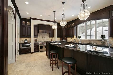 dark kitchens designs pictures of kitchens traditional dark wood nearly