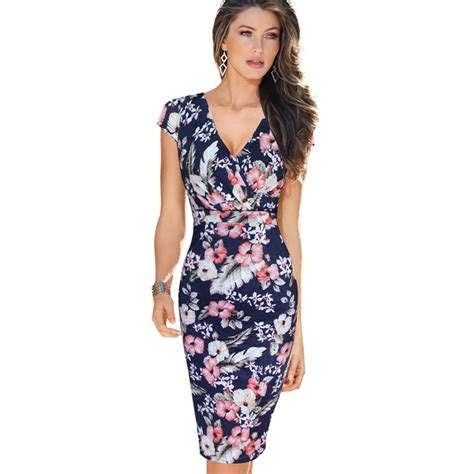 Casual Print Dresses From Ruche by Aliexpress Buy Vfemage Womens V Ruched