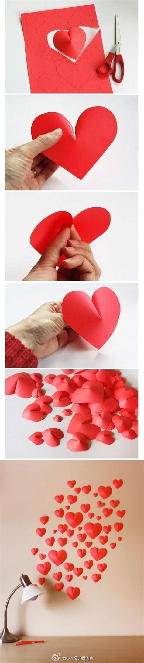 Paper Hearts Crafts - diy easy 3d paper craft ideas paper