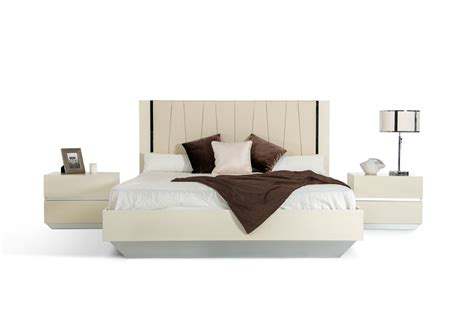 italian lacquer bedroom furniture luxor modern beige lacquer italian bedroom set