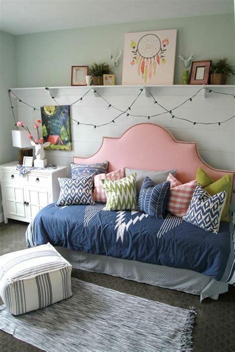 Charmant Chambre De Ado Fille #1: d%C3%A9coration-chambre-ado-fille-tete-de-lit-originale.jpg