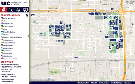 uic map find directions resources with interactive cus map uic today