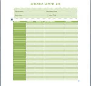 Controlled Log Template by Document Log Template Format Template