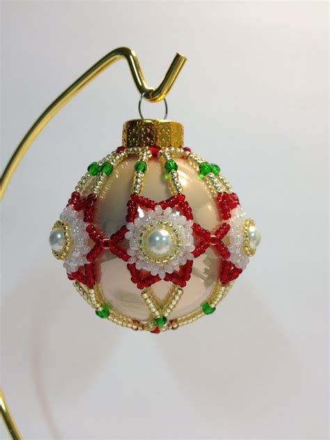 beaded christmas decorations free patterns beaded bulb pattern pdf just one more bead