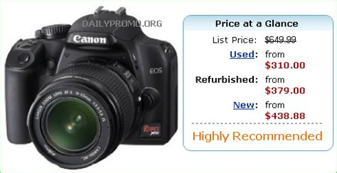 best refurbished price for canon eos rebel xs with canon
