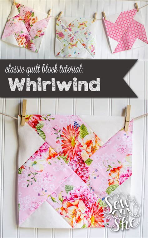Classic Quilt Blocks by Classic Blocks Fresh Fabric The Whirlwind Quilt Block