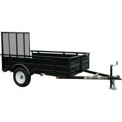 Trailer Tire Lowes Shop Carry On Trailer 5 Ft X 8 Ft Steel Utility Trailer