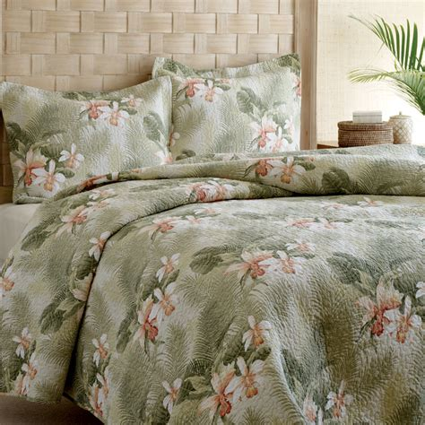 tommy bahama coverlets tommy bahama tropical orchid quilt set from beddingstyle com